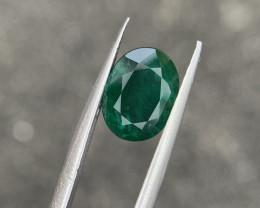 2.35 carat Natural vivid green Emerald.