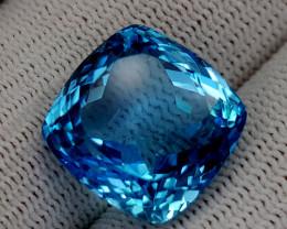 24.35CT BLUE TOPAZ BEST QUALITY GEMSTONE IIGC53