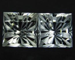 15.49Cts Genuine Amazing Unheated Fashion precision Checker Cut  White Topa