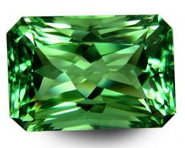 34.40Cts Stunning Natural Green Amethyst (prasiolite) Radiant Cut Ref VDO