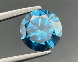 2.01 CT Diamond Gemstones top blue color top luster with fine cutting