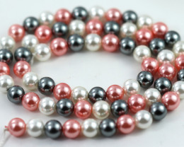 6 mm Shell Pearl colour Strand  AHA 627