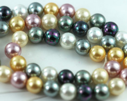 8 mm Shell Pearl colour Strand  AHA 629