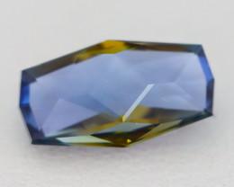 BiColor Golden Blue Tanzanite 1.86Ct Master Cut Unheated Tanzanite AT69