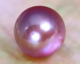 10.5mm 8.33Ct Natural Tahitian Purple Black Pearl C0914