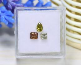 Diamond 0.94Ct 3Pcs Natural Genuine Fancy Color Diamond C0917