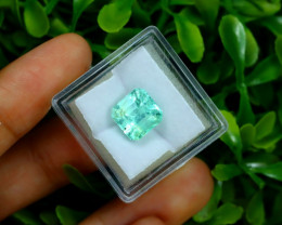 Emerald 3.77Ct Colombian Muzo Emerald Neon Mint Green Beryl C0932