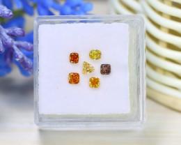 Diamond 0.61Ct 6Pcs Natural Genuine Fancy Color Diamond A0905