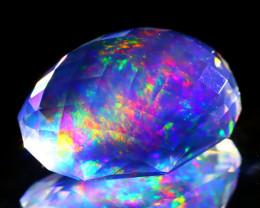 ContraLuz 8.43Ct Precision Cut Mexican Very Rare Species Opal A0910
