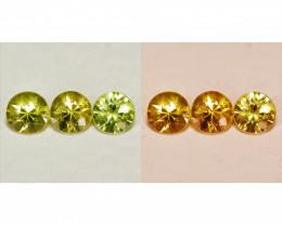 0.62 Cts 3 Pcs Untreated Color Changing Natural Demantoid Garnet Gemstone
