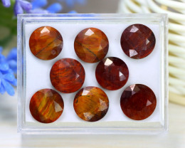 Tiger Eye 32.94Ct Natural Untreated Red Tiger Eye Lot Box A0924