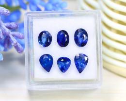 Sapphire 5.10Ct 6Pcs Natural Madagascar Royal Blue Sapphire Box A0931