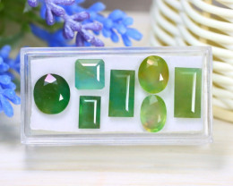 Beryl 17.98Ct 7Pcs Natural Green Color Beryl Box A0936
