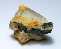 Beautiful Natural color Tourmaline with Quartz specimen 45Cts-P