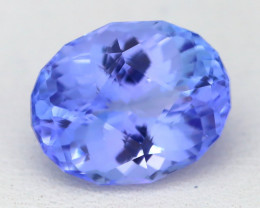 BiColor Purplish Blue Tanzanite 3.43Ct Master Cut Unheated Tanzanite AT86