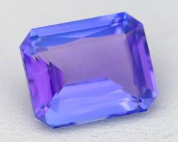 BiColor Purplish Blue Tanzanite 3.05Ct Master Cut Unheated Tanzanite AT88