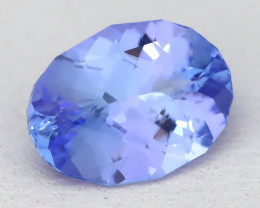 BiColor Purplish Blue Tanzanite 2.10Ct Master Cut Unheated Tanzanite AT96