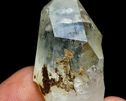 Stunning Natural lovely  gemmy quality Quartz crystal 76Cts-P