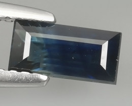 1.35 CTS AWESOME BLUE SAPPHIRE HEATED FACETED GENUINE