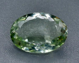 15.59 Crt Prasiolite Green Amethyst Faceted Gemstone (Rk-14)