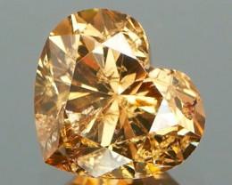 *NR* Cinnamon Brown Natural Diamond Heart 1.01Cts