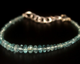 28.20 Crt Natural Apatite Rondelle bracelet