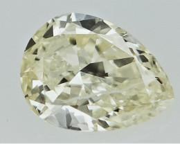 0.15 cts  Yellow Colored Diamond ,Pear Brilliant Cut