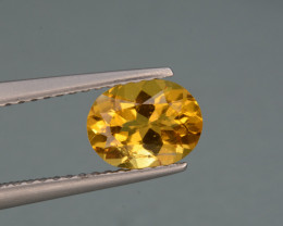 Natural  Heliodor 0.91 Cts, Top  Luster.