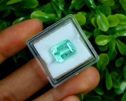Emerald 4.09Ct Colombian Muzo Emerald Neon Mint Green Beryl B1003