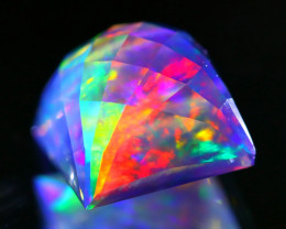 ContraLuz 3.22Ct Precision Cut Mexican Very Rare Species Opal B1014