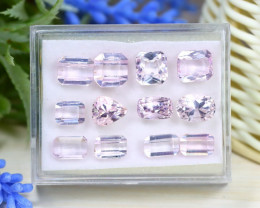 Kunzite 30.31Ct 12Pcs Natural Pakistan Pink Color Kunzite Box B1019