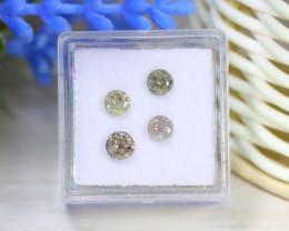 Diamond 1.23Ct 4Pcs Round Natural Genuine Fancy Color Diamond B1021