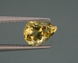 Natural  Heliodor 1.23 Cts, Top  Luster.