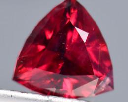 NO RESERVE 1.40 Crt Rhodolite Garnet Trillion Cut Gemstone