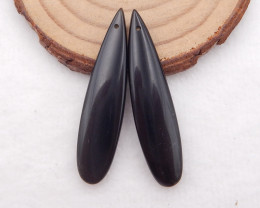 D1527 - 23cts obsidian earrings pair , natural stone earrings