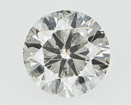0.18 cts  Round Brilliant Cut , Light Colored Diamond