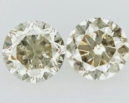0.65 cts   Round Brilliant Cut , salt pepper diamond,