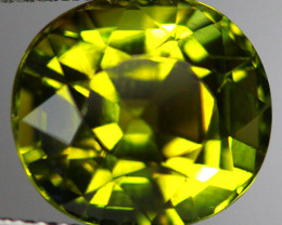 4.64CT 10X9MM Pistachio Green Natural Mozambique Tourmaline-TE25