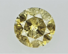 0.08 cts   Round Brilliant Cut , Light Colored Diamond