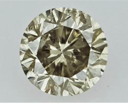 0.11 cts   Round Brilliant Cut , Brown Colored Diamond
