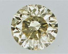 0.16 cts   Round Brilliant Cut , Light Colored Diamond