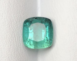2.35 Carats Natural Blue Tourmaline Cut Stone from Afghanistan