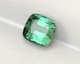 3.05 Carats Natural Green Tourmaline Cut Stone from Afghanistan