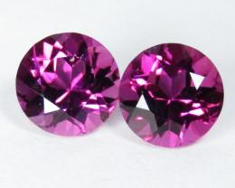 1.43Cts Pink beauty Natural Unheated Pink Tourmaline Round Shape Matching P