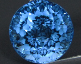 5.82Cts Sparkling Natural Swiss Blue Topaz Round precision Cut Loose Gem VI