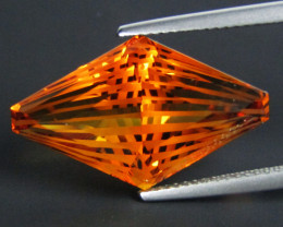 13.75Cts Wow Amazing Natural Citrine Fancy Cut  Collector Gem SEE