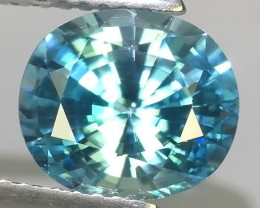 3.60 CTS~TOP LUSTROUS NATURAL BLUE ZIRCON CAMBODIA