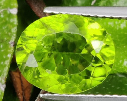 3.95 CTS LUXURY! RICH GREEN PERIDOT OVAL CUT PAKISTAN~GEM!!