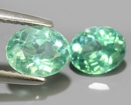 2.05 CTS EXQUISITE GREEN COLOR UNHEATED APATITE~OVAL EXCELLENT!