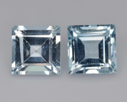 Natural Sky Blue Topaz 6.52 Cts Matched Pair,  Quality Gemstone